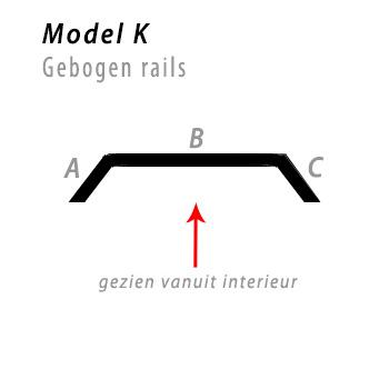 Model bocht K gebogen rails